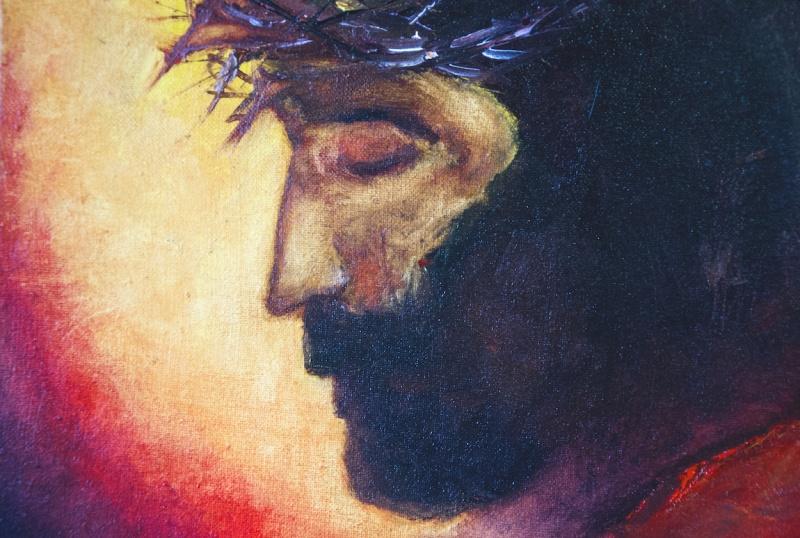 Jesus Christ oil painting